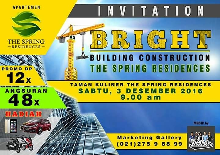 BRIGHT, Apartemen Ciputat: Building Construction The Spring Residences